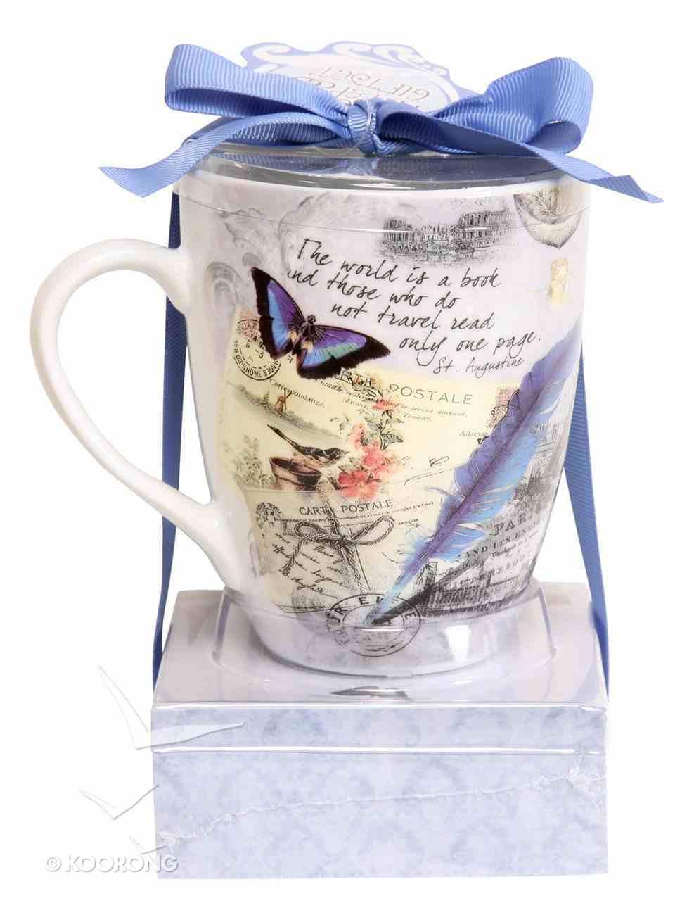 Mug & Notepad Giftset (Vintage Travel Gift Collection) Pack