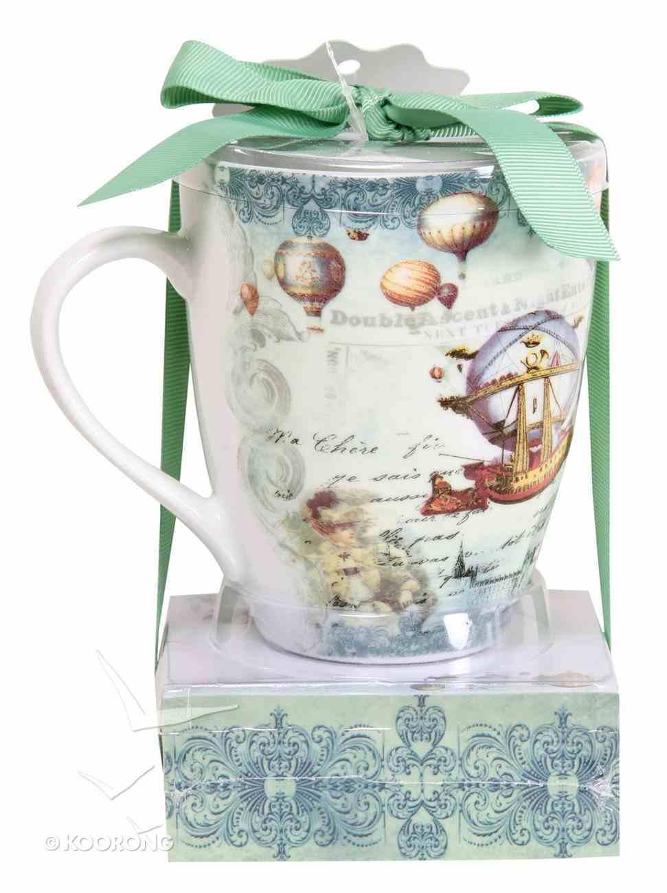 Mug & Notepad Giftset (Vintage Balloon Collection) Pack