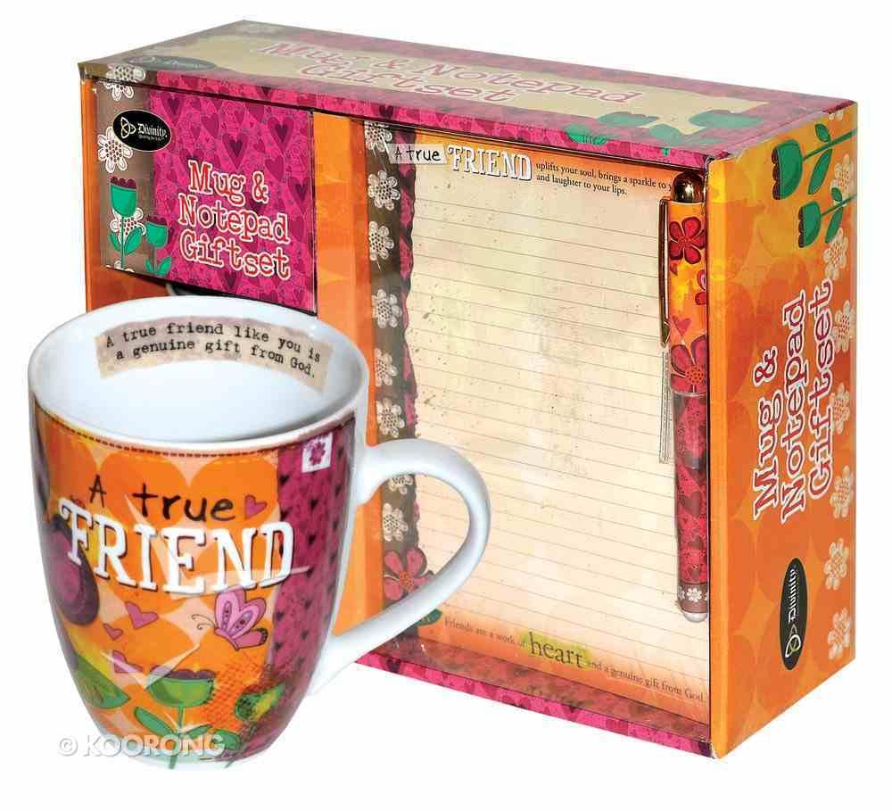 Gift Set: Mug, Notepad & Pen: A True Friend General Gift