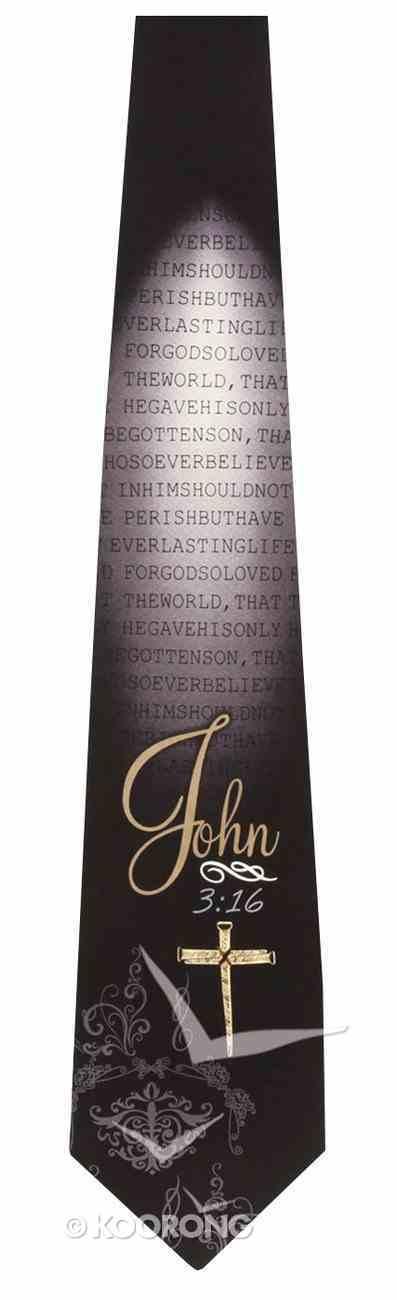 Silk Tie: John 3:16 Soft Goods