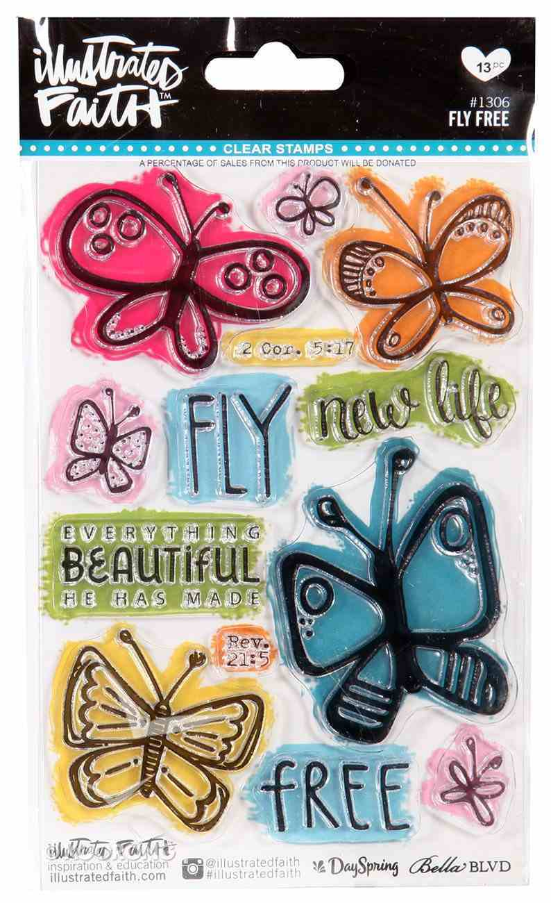 Clear Stamps - Fly Free (Illustrated Faith Series) Stickers