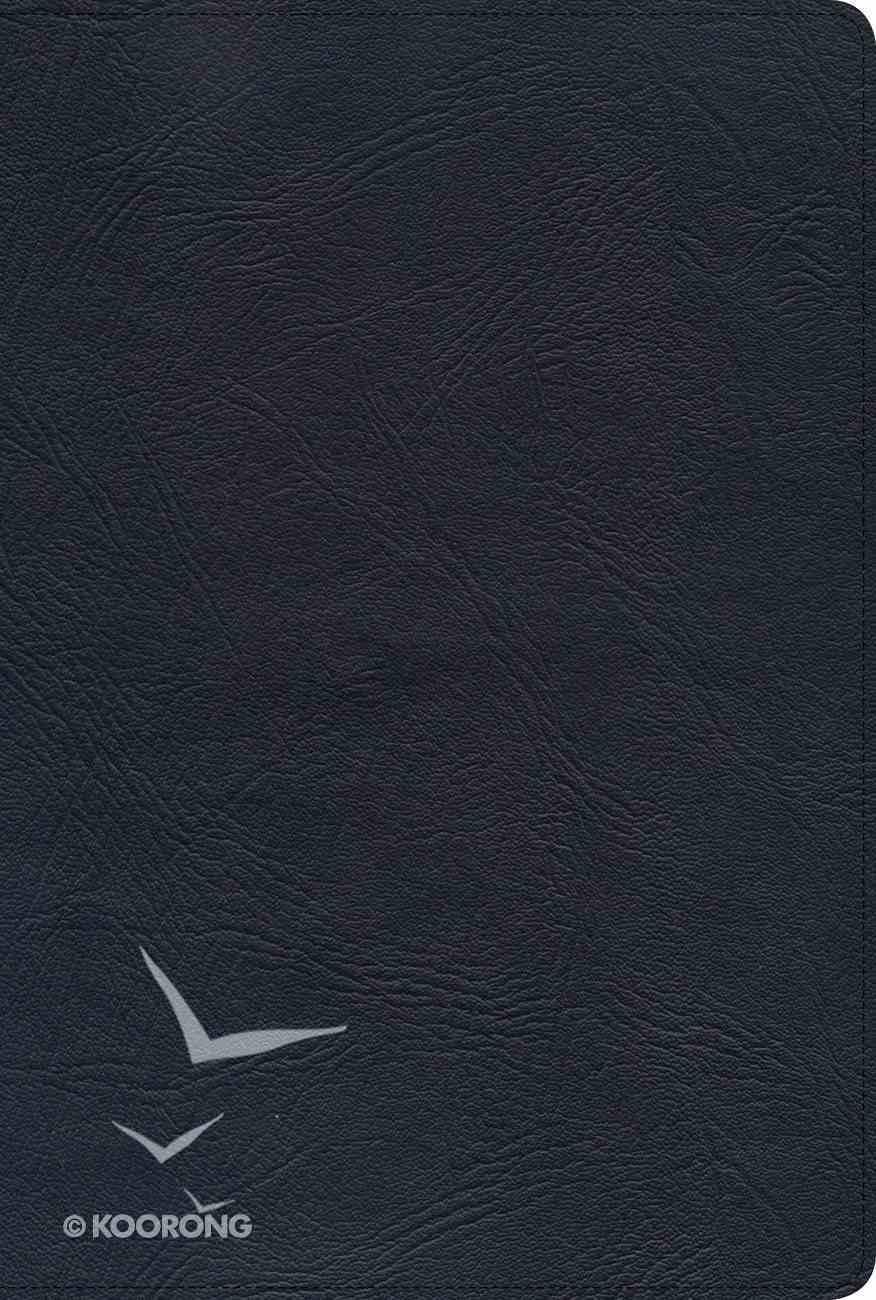 KJV Giant Print Reference Bible Black Indexed Genuine Leather