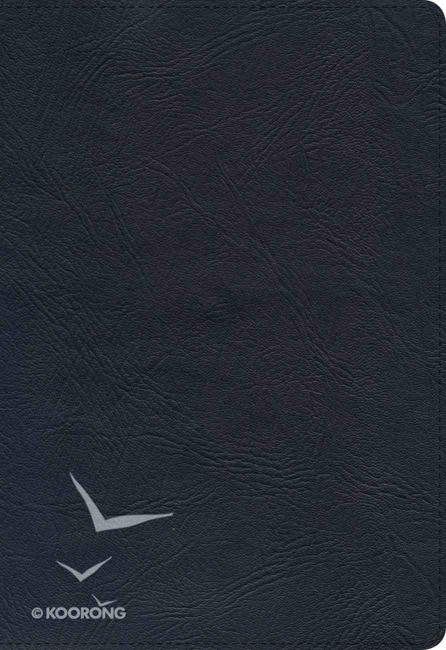 KJV Large Print Ultrathin Reference Bible Black Indexed Genuine Leather