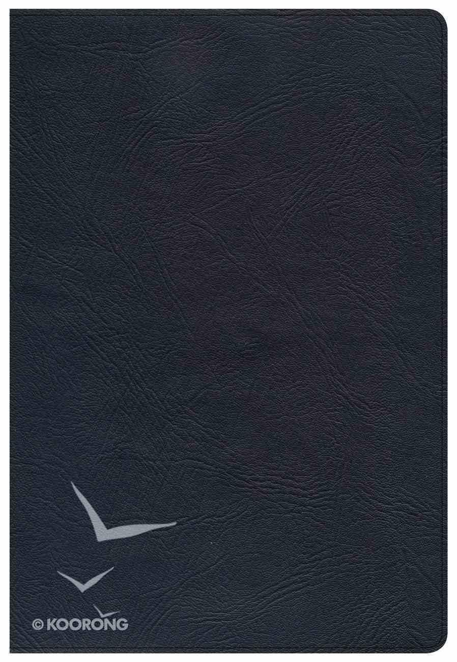 KJV Super Giant Print Reference Bible Black Genuine Leather
