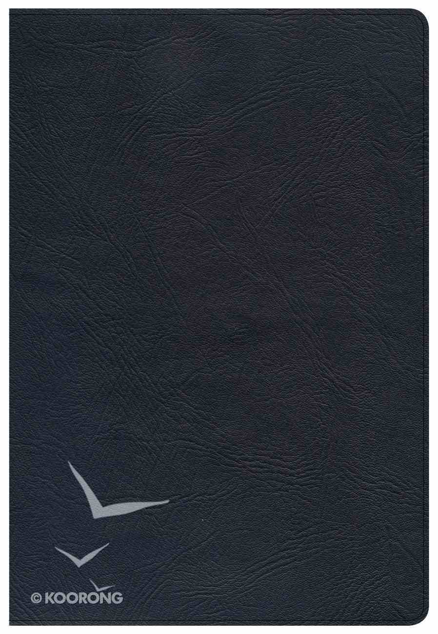 KJV Super Giant Print Reference Bible Black Indexed Genuine Leather