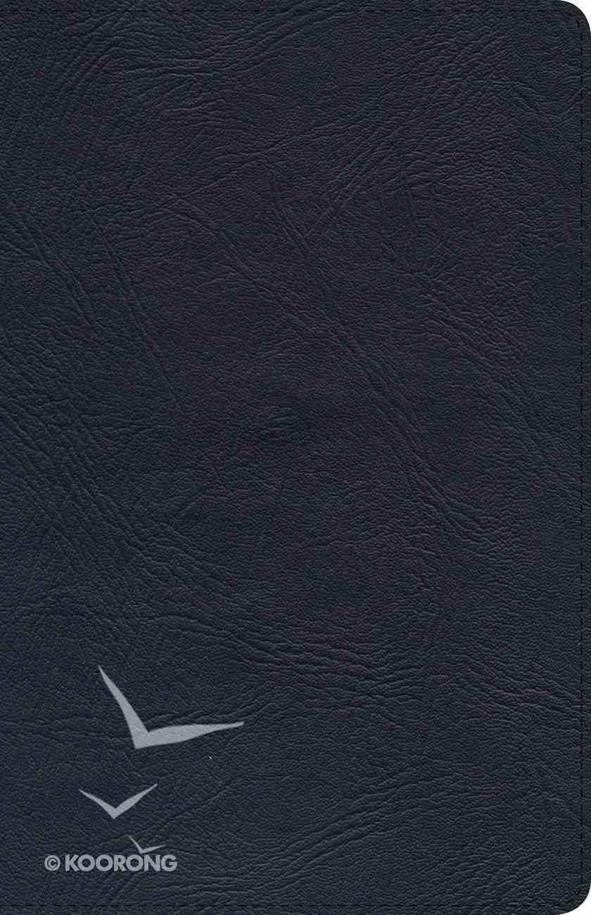 KJV Ultrathin Reference Bible Black Genuine Leather