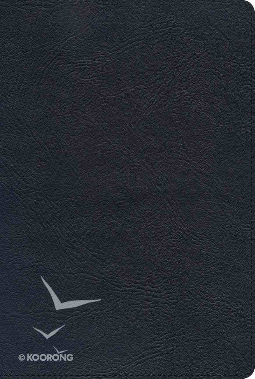 NKJV Giant Print Reference Bible Black Genuine Leather