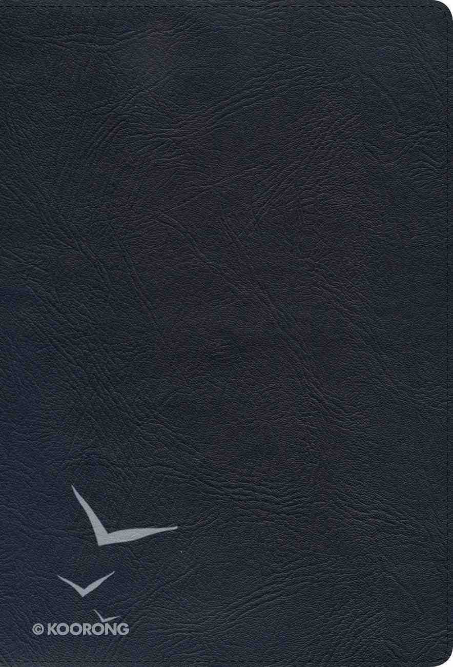 NKJV Super Giant Print Reference Bible Black Indexed Genuine Leather
