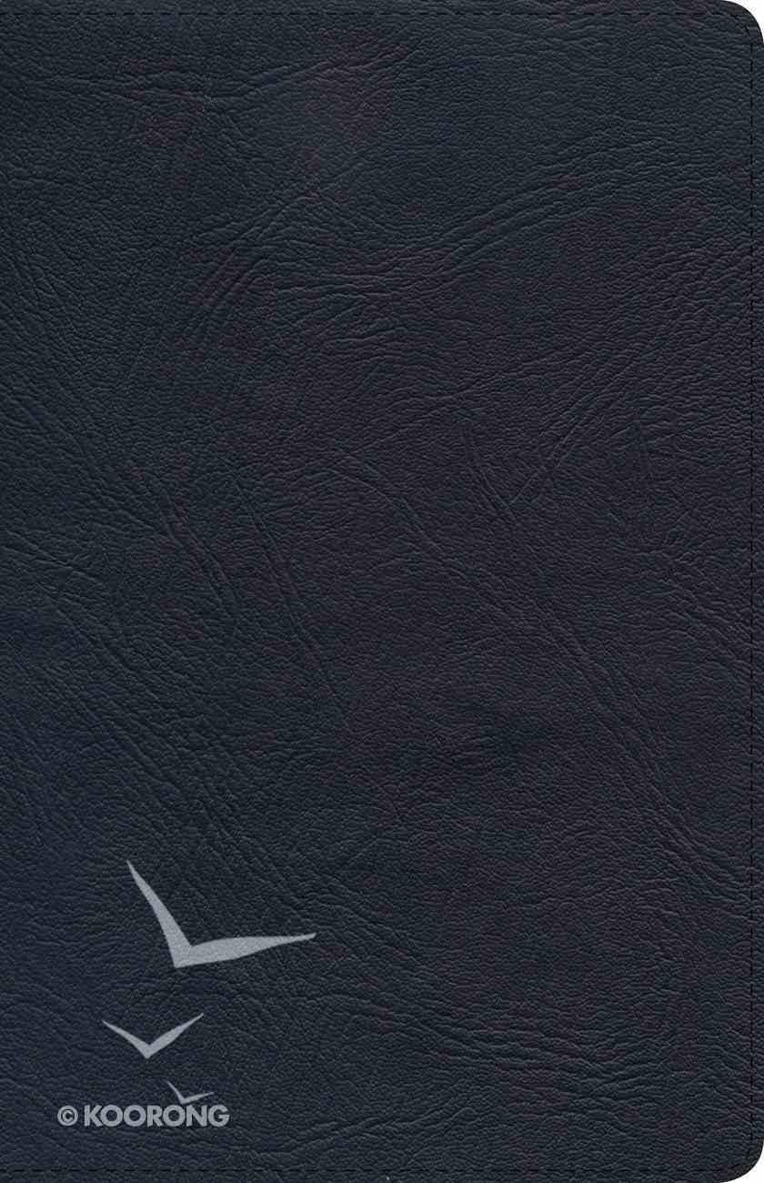 NKJV Ultrathin Reference Bible Black Indexed Genuine Leather