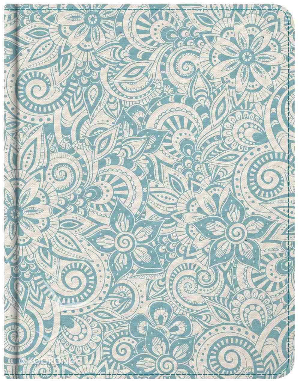 KJV Notetaking Bible Blue Floral Bonded Leather