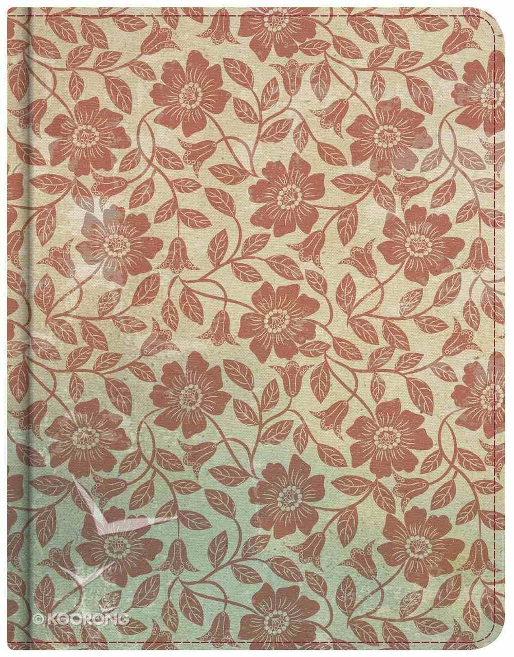 KJV Notetaking Bible Red Floral Bonded Leather
