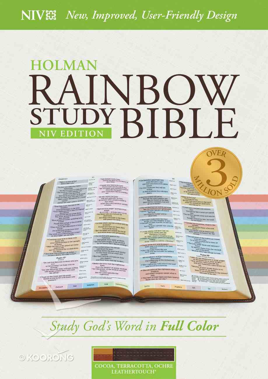 NIV Rainbow Study Bible Cocoa/Terra Cotta/Ochre Imitation Leather