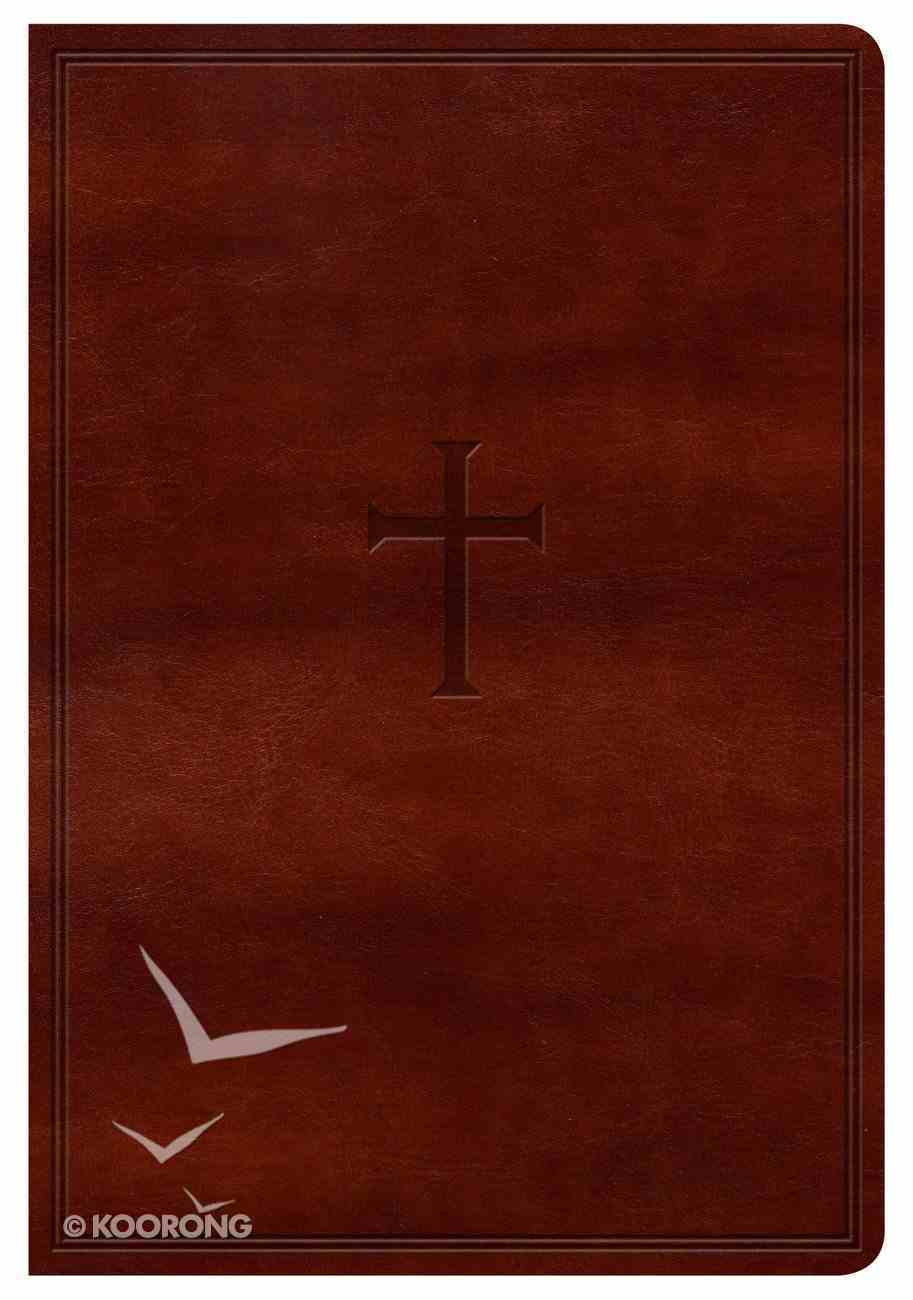 KJV Compact Ultrathin Reference Bible Brown Cross Indexed Imitation Leather