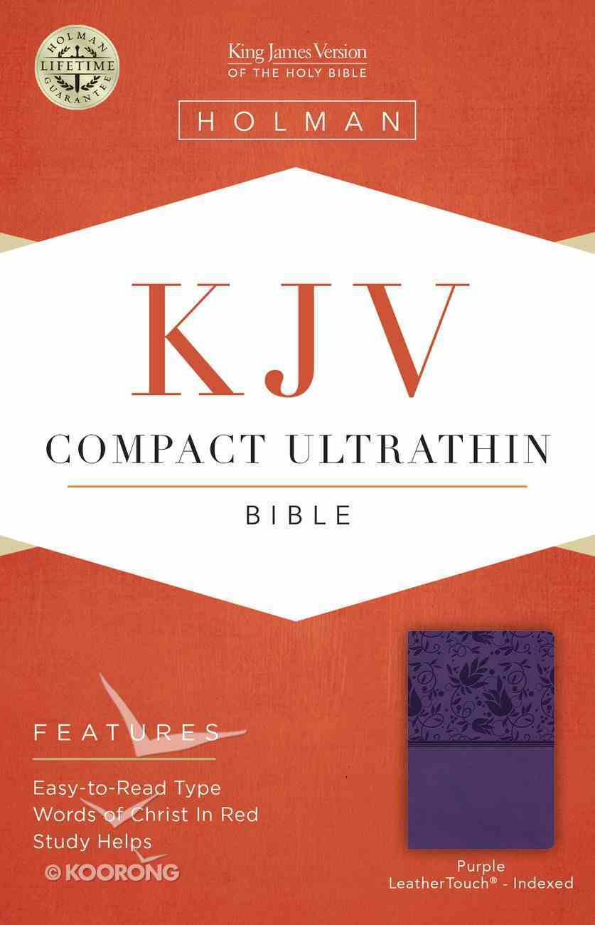 KJV Compact Ultrathin Reference Bible Purple Indexed Imitation Leather