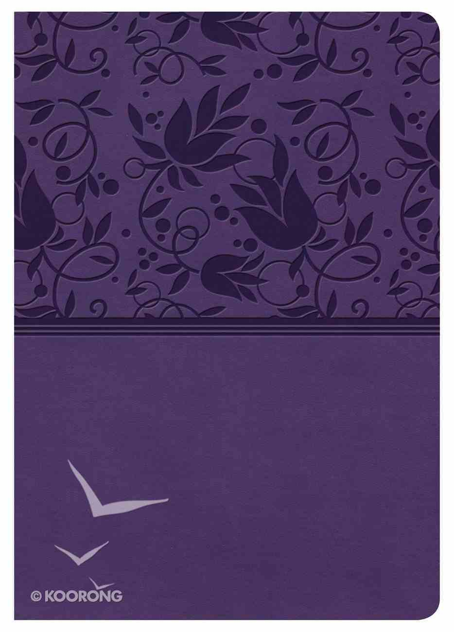 KJV Large Print Compact Reference Bible Purple Indexed Imitation Leather