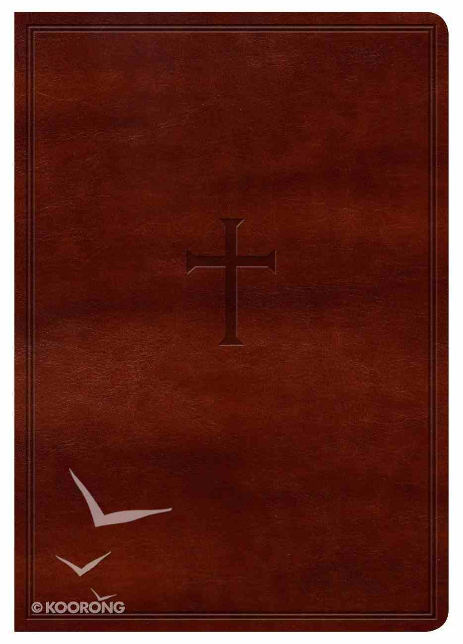KJV Large Print Compact Reference Bible Indexed Brown Cross Imitation Leather
