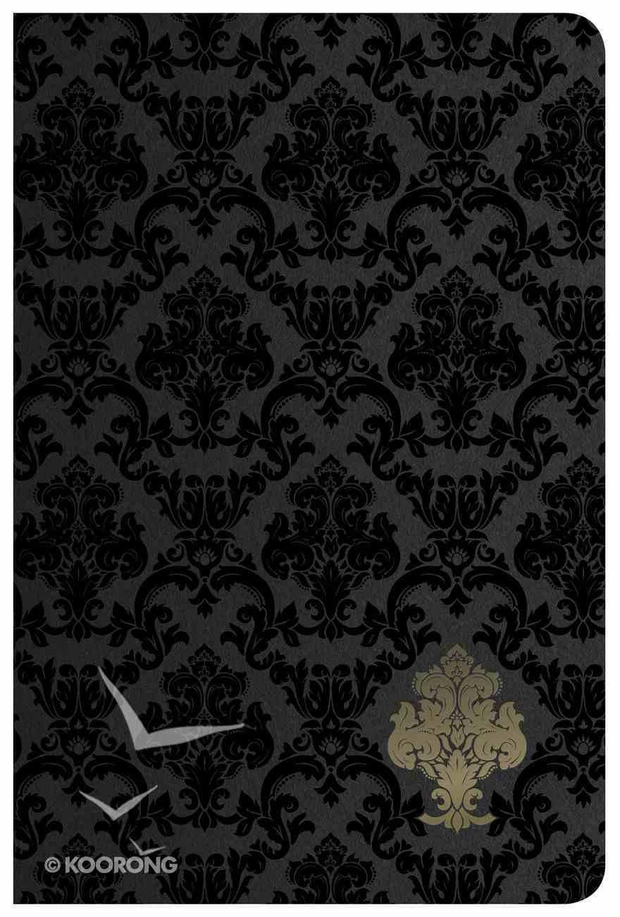 NKJV Large Print Personal Size Reference Bible Black Velvet Imitation Leather