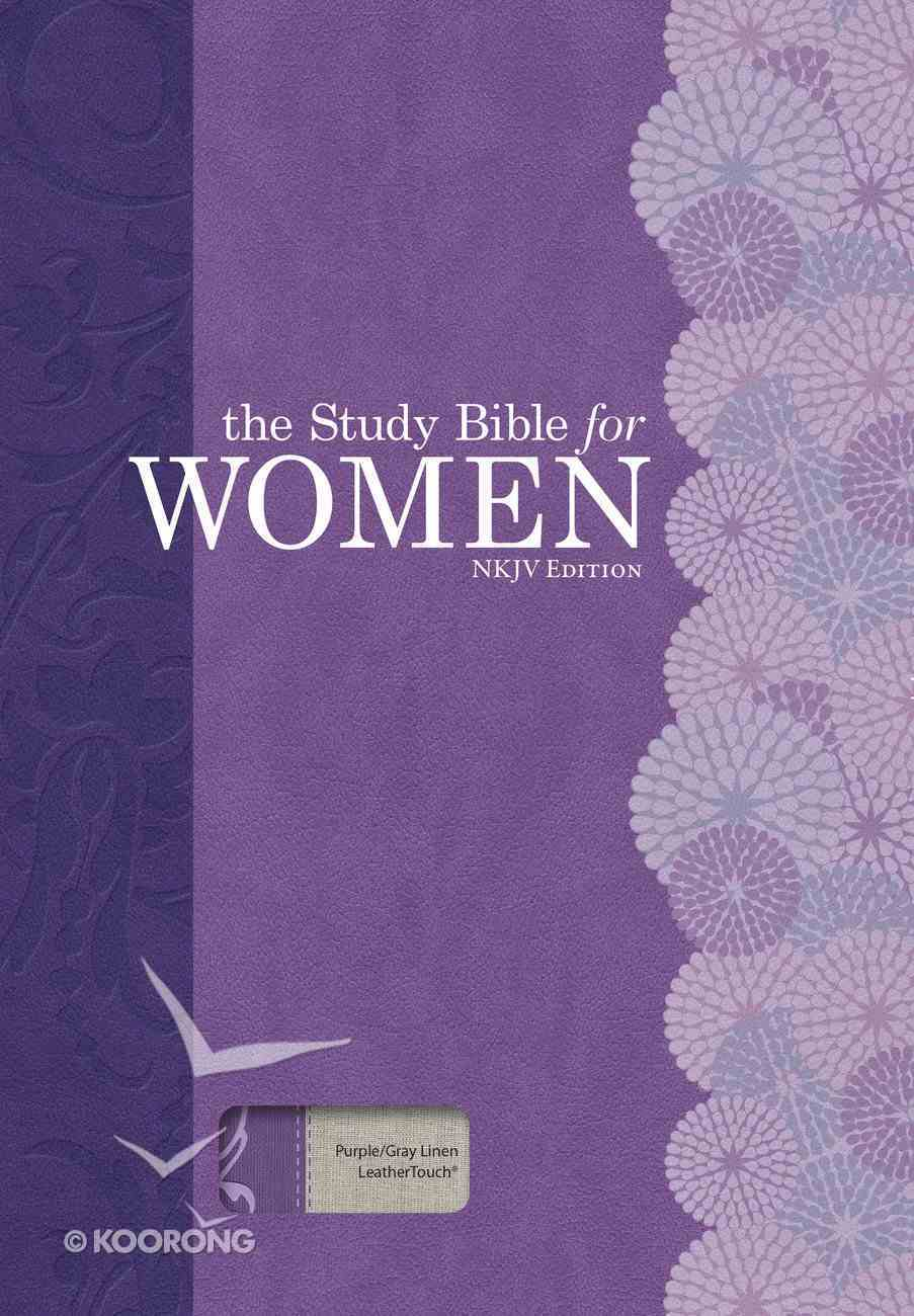 NKJV Study Bible For Women Indexed Purple/Gray Linen Imitation Leather
