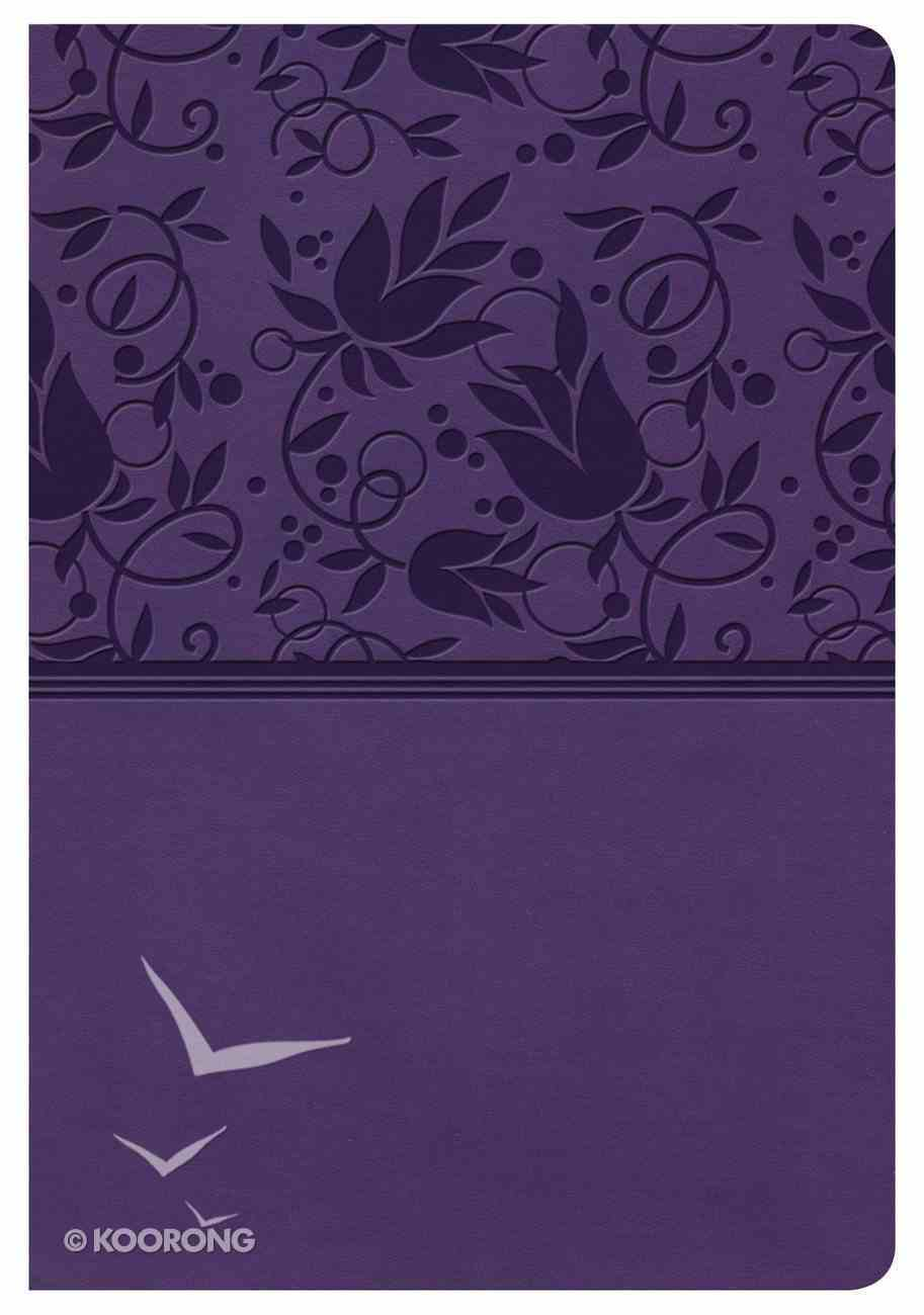 NKJV Compact Ultrathin Bible Purple Indexed Imitation Leather