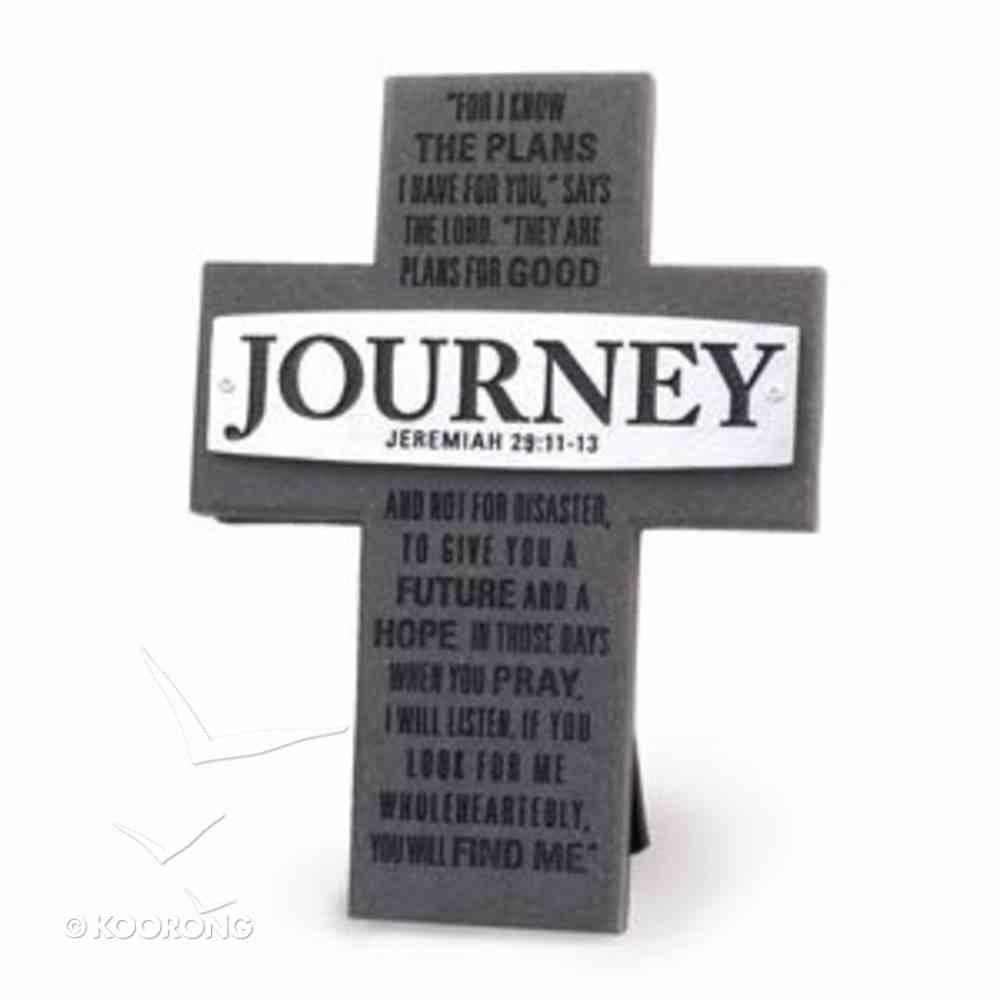 Cross Cast Stone: Journey: Badge of Faith Homeware