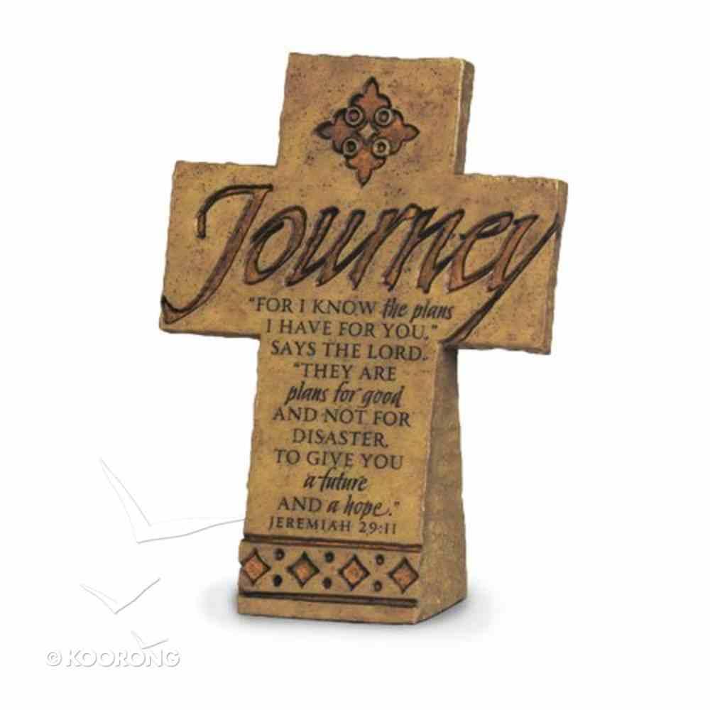 Cross Desktop: Journey (15cm X 10cm) Plaque