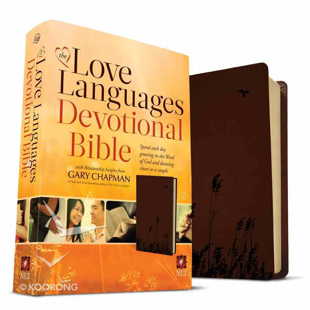 NLT the Love Languages Devotional Bible Chocolate Imitation Leather