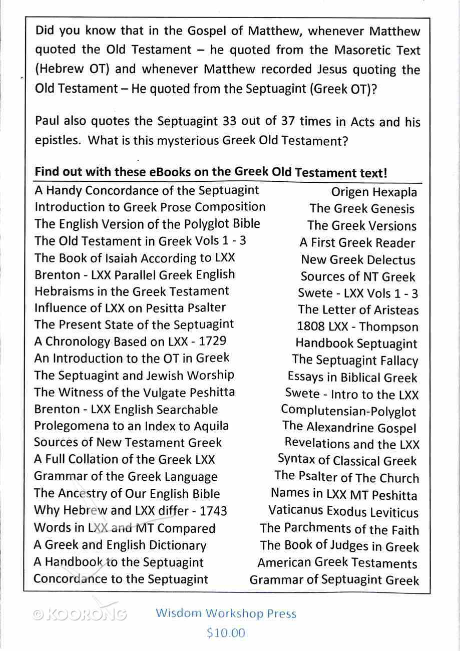 Wisdom Workshop: 60 Book Library on the Septuagint CD-rom
