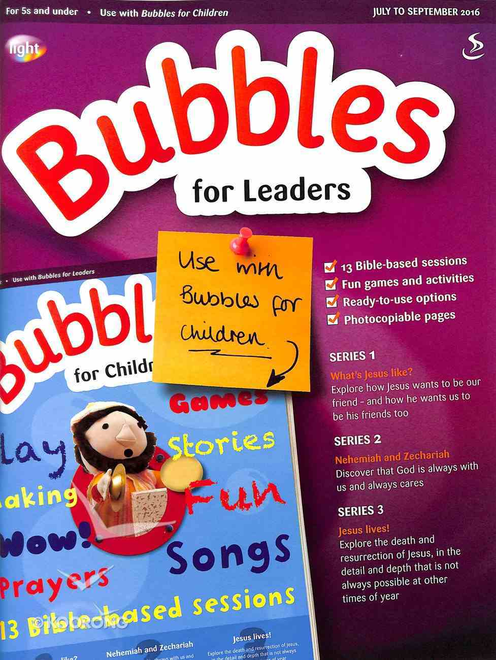 Light: Bubbles 2016 #03: Jul-Sep Teacher's Guide (5 And Under) Paperback