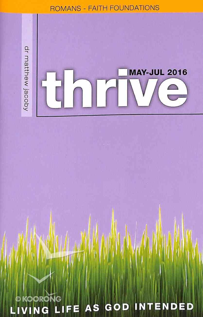Thrive 2016 #03: May-Jul Paperback