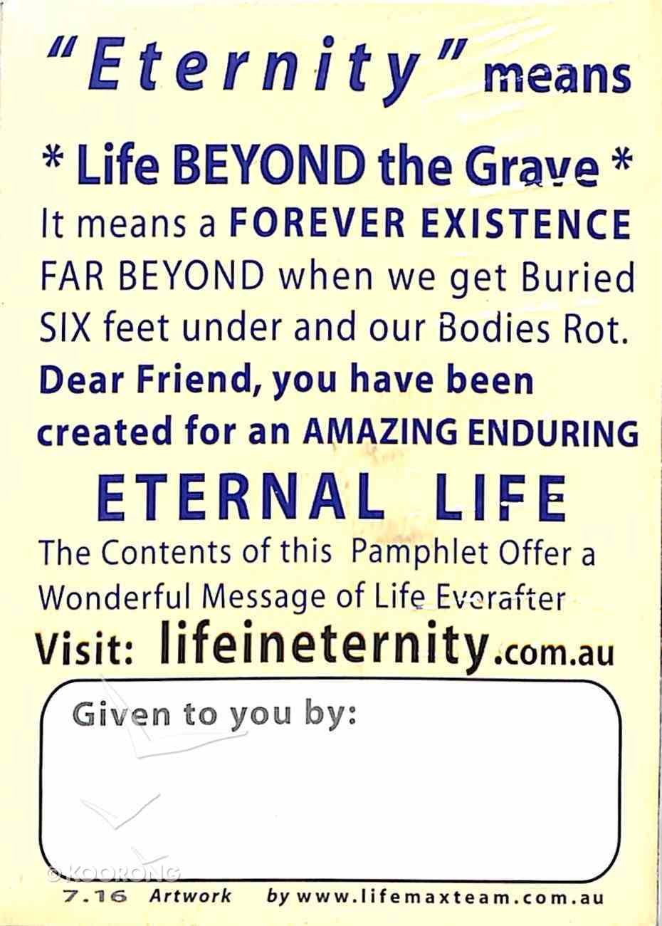 A Huge Question?: Where Will You Be In... Eternity? (Pack Of 50) Booklet