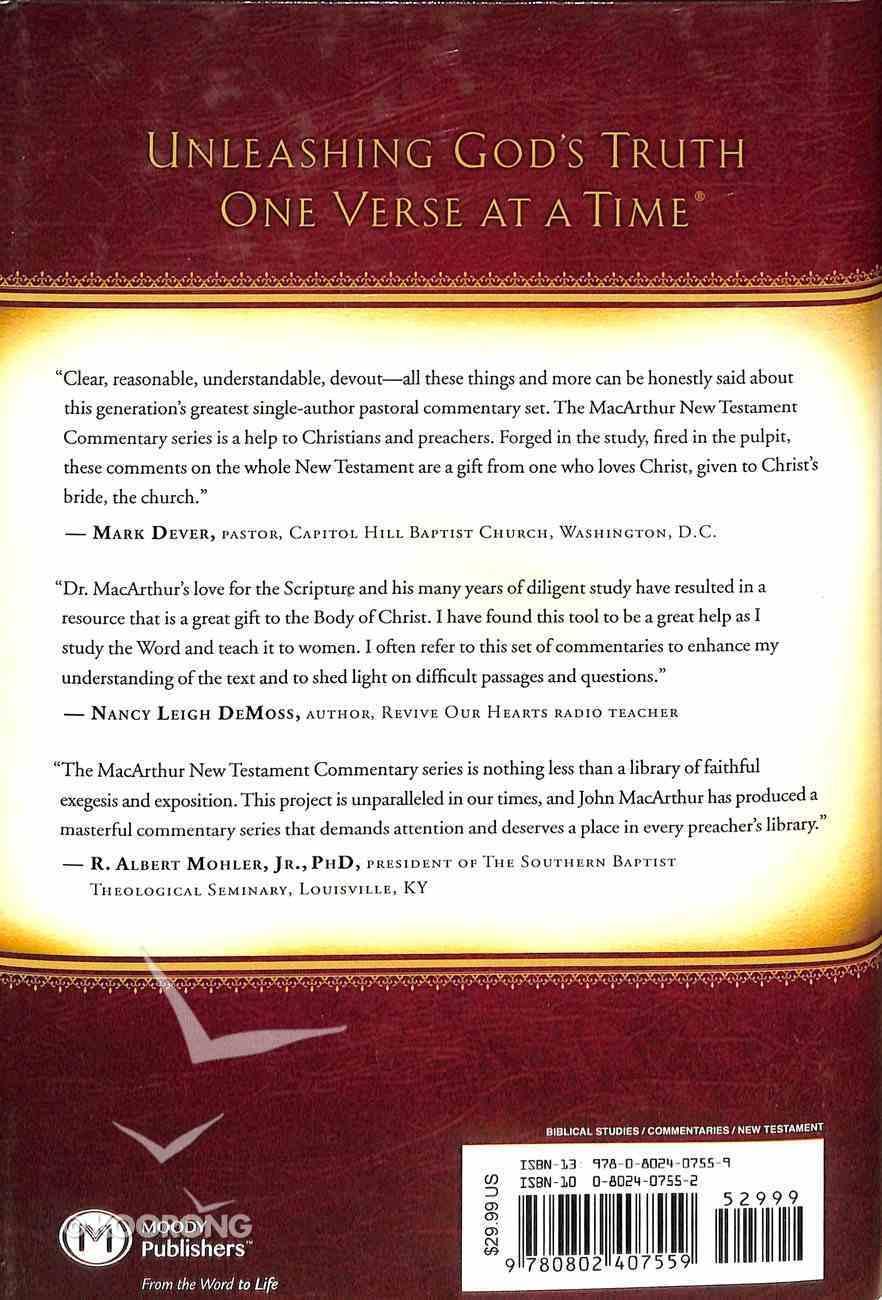 Matthew 01-07 (Macarthur New Testament Commentary Series) Hardback