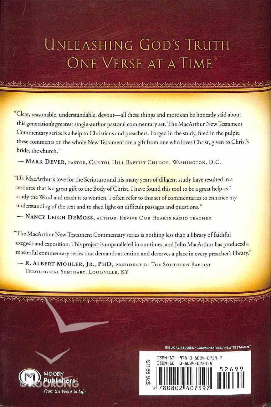 Acts 1-12 (Macarthur New Testament Commentary Series) Hardback