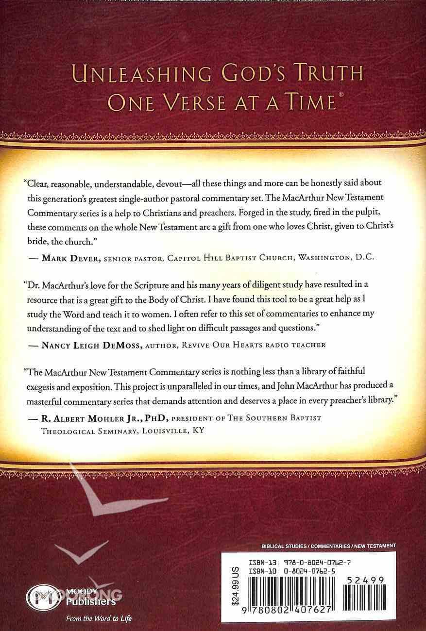Galatians (Macarthur New Testament Commentary Series) Hardback