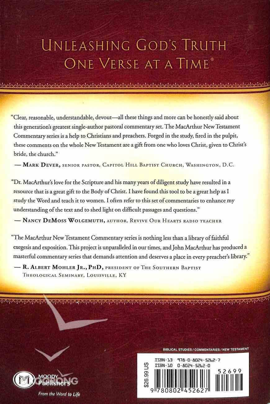 Philippians (Macarthur New Testament Commentary Series) Hardback