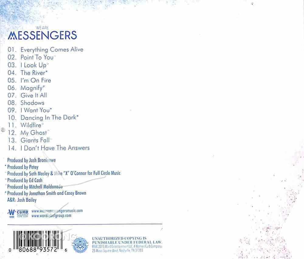 We Are Messengers CD