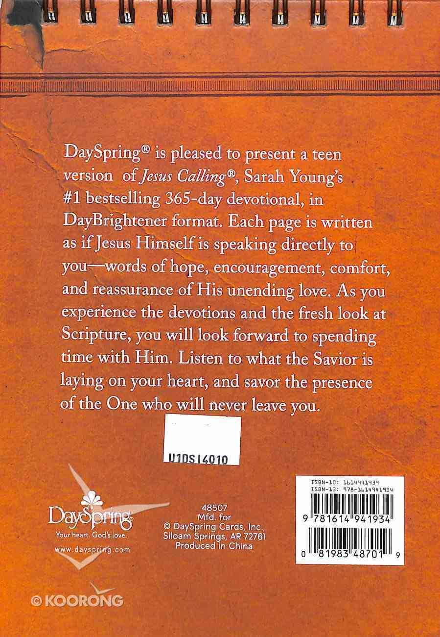 Large Daybrighteners: Jesus Calling Teen (Padded Cover) Spiral