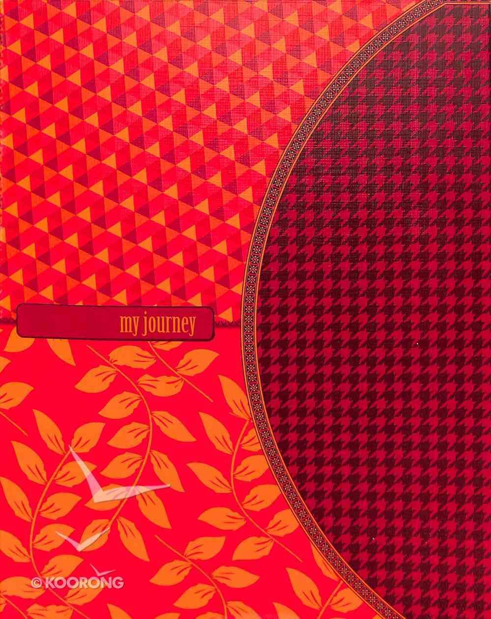 Notebook Journal: Pattern (Orange/red/gold) Flexi Back