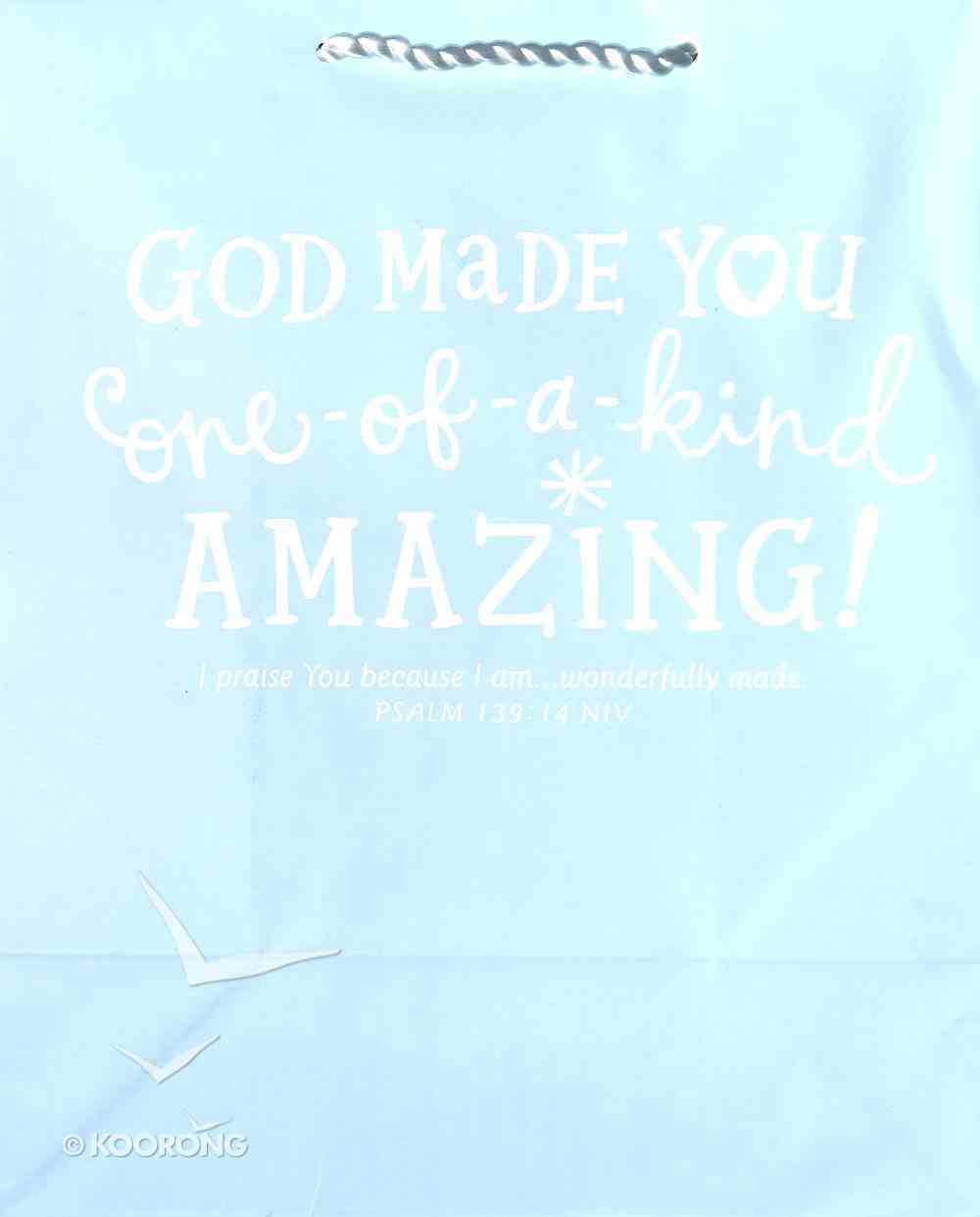 Value Gift Bag Large: Light Baby Blue (Psalm 139:14 Niv) Stationery
