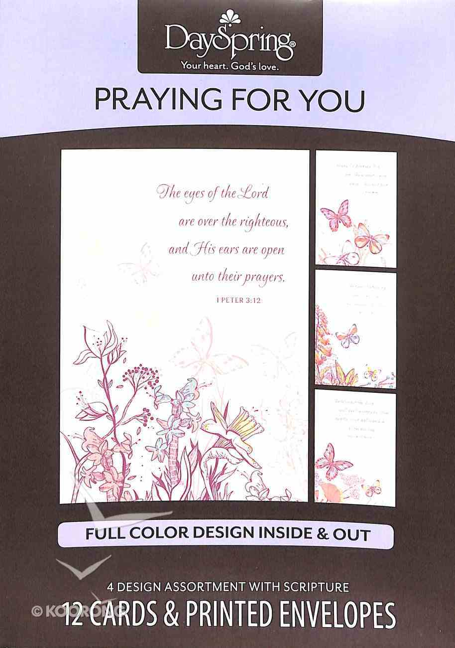 Boxed Cards Praying For You: Butterflies Box
