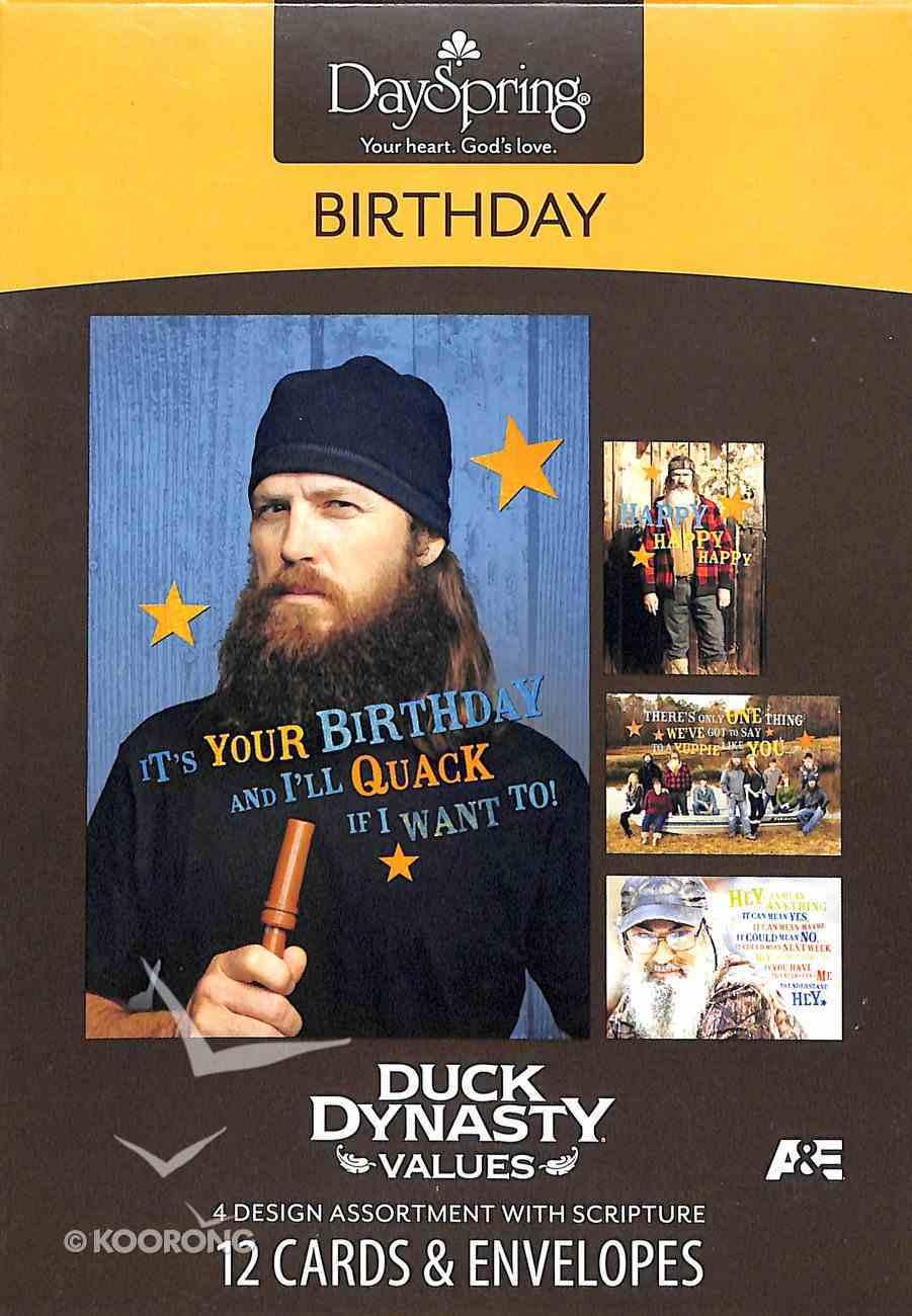 Boxed Cards Birthday: Duck Dynasty Values Box