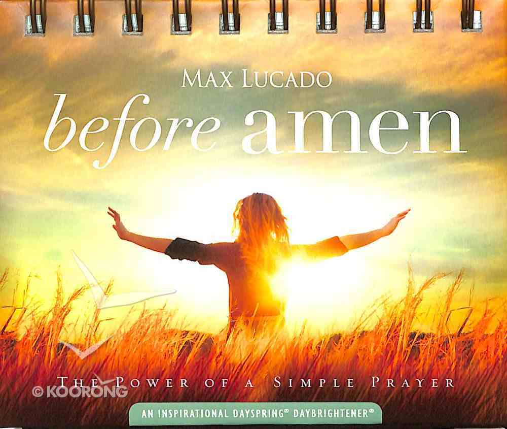 Daybrighteners: Before Amen (Padded Cover) Spiral