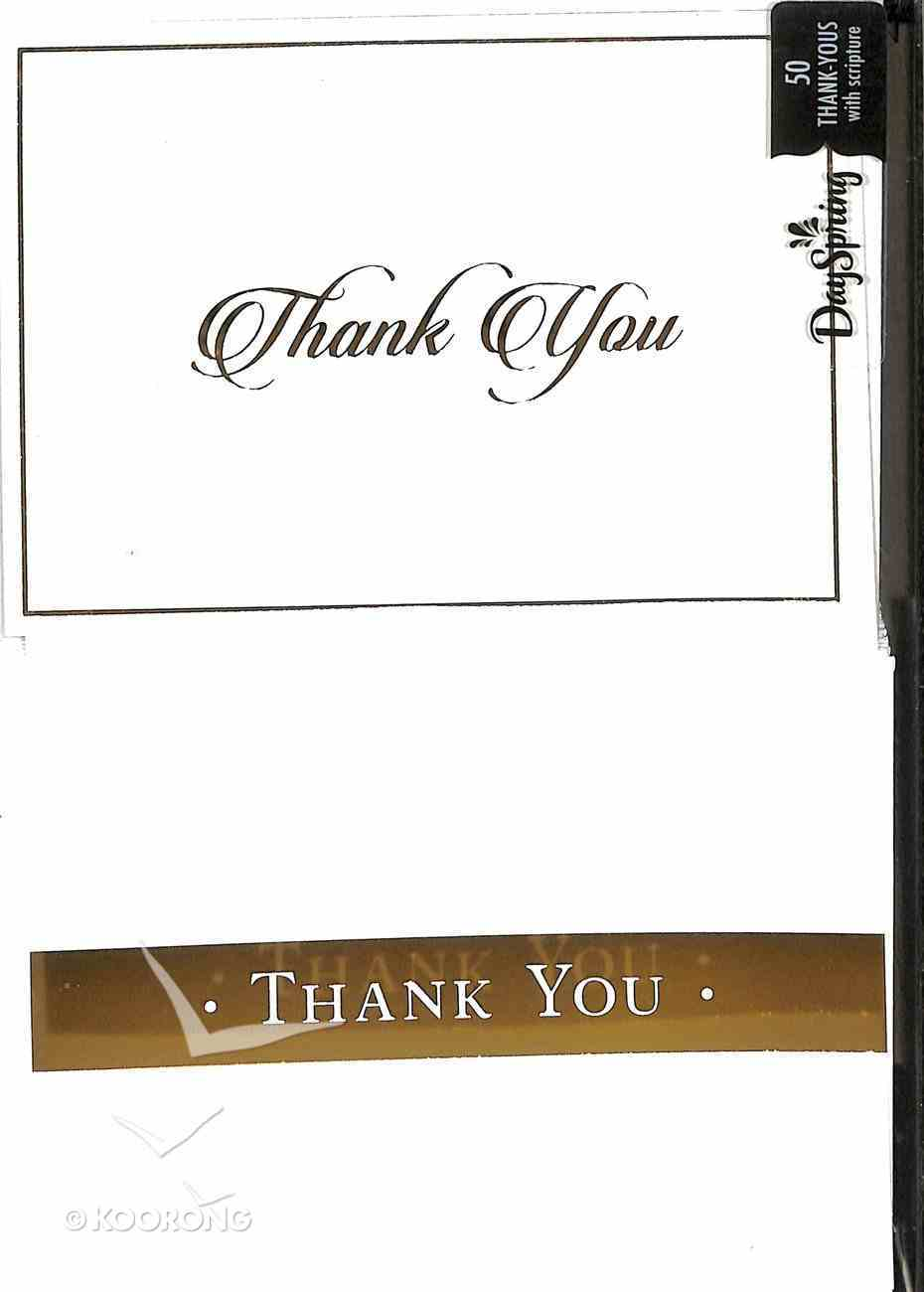 Note Cards Thank You: Golden (50 Pack) Stationery