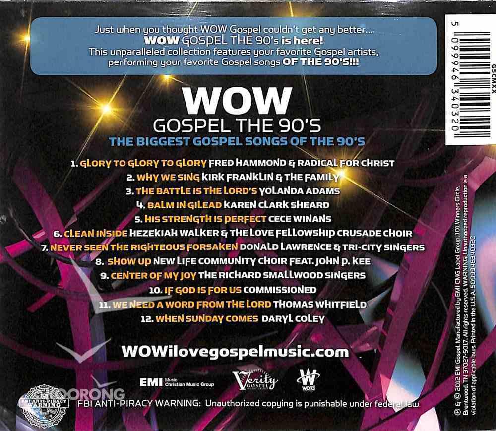 Wow Gospel - the 90'S CD