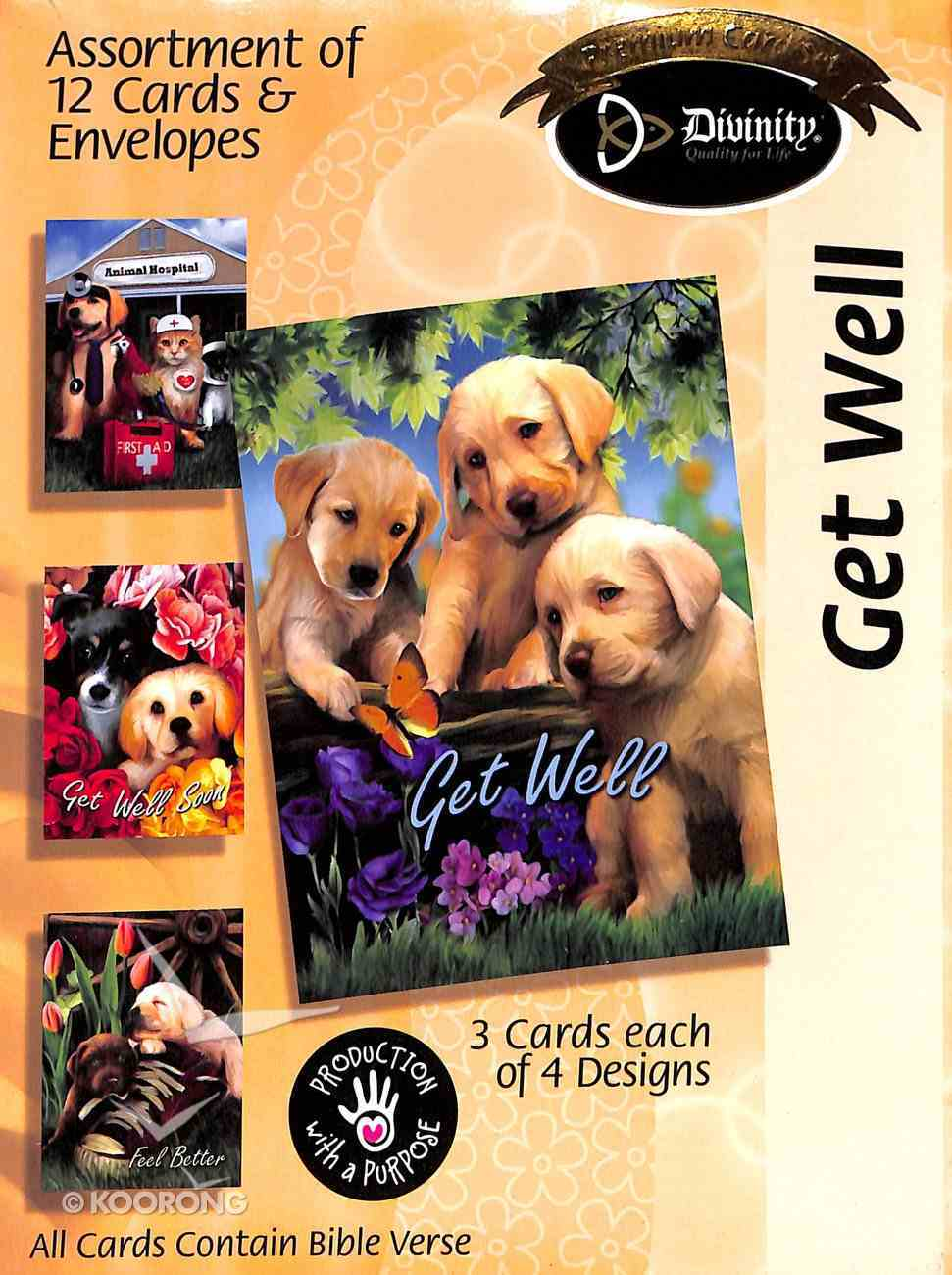 Boxed Cards Get Well: Puppies Box