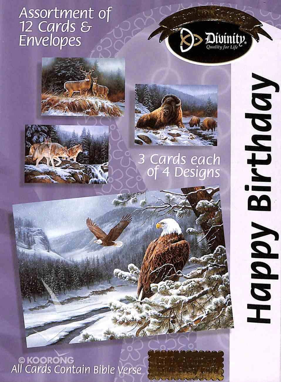 Boxed Cards Happy Birthday: Eagles Box