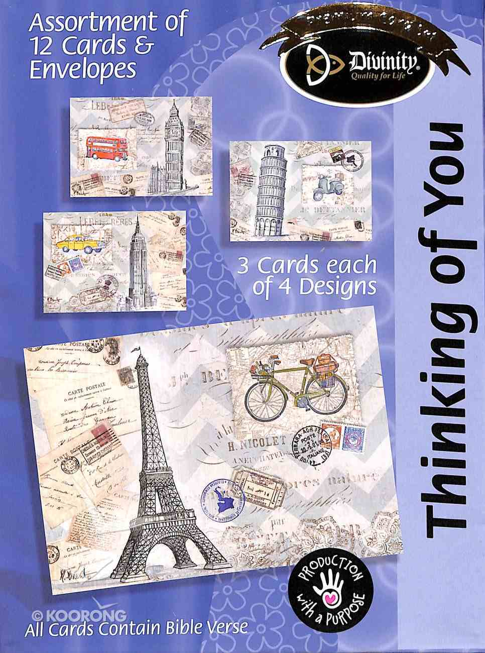Boxed Cards Thinking of You: Paris Eiffel Tower Box
