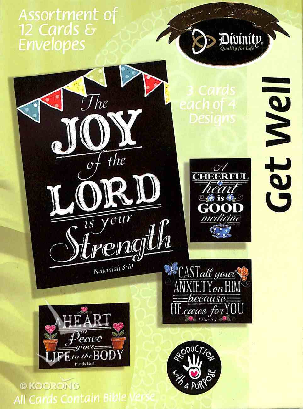 Boxed Cards Get Well: Chalkboard Box