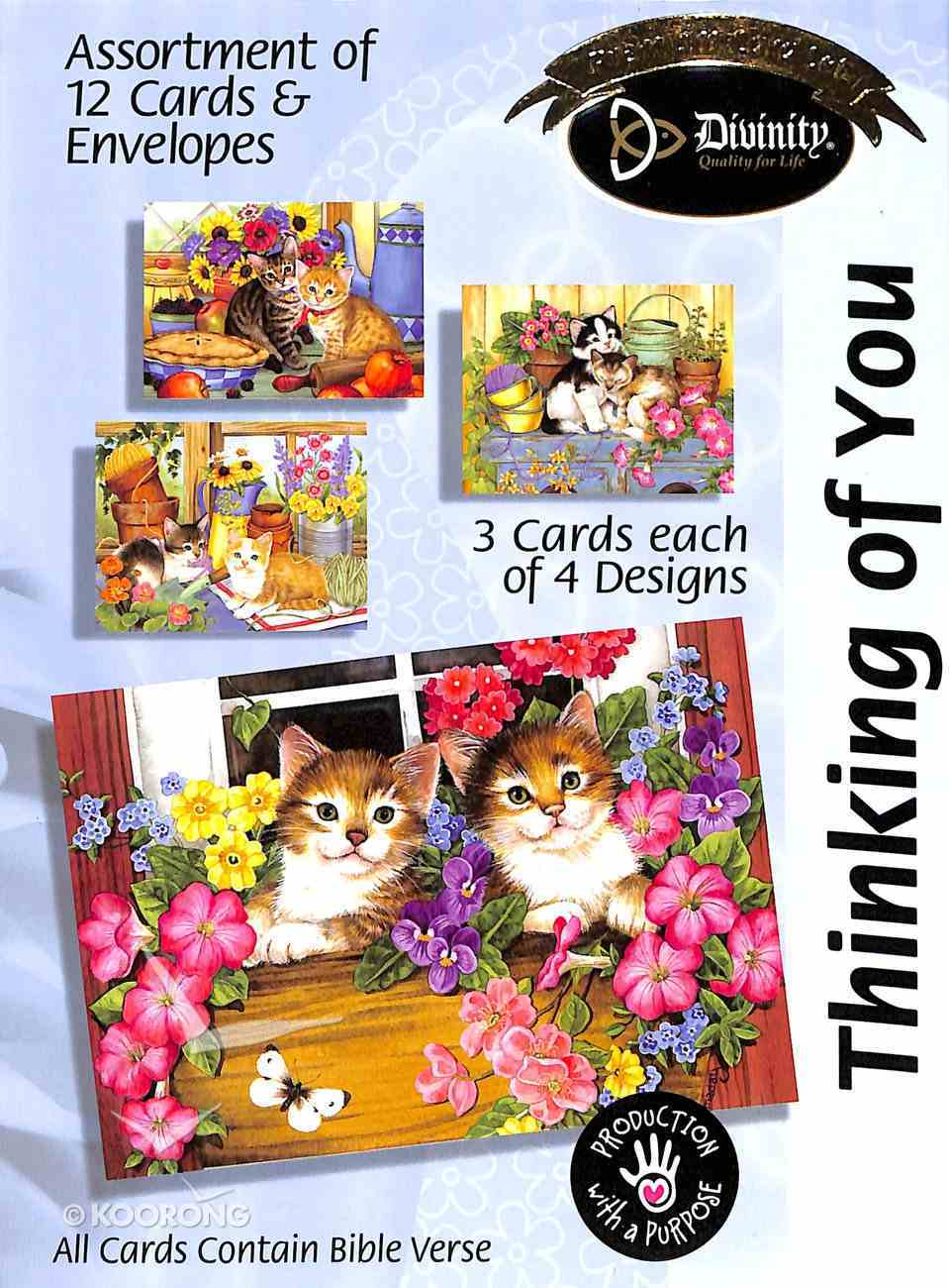 Boxed Cards Thinking of You: Cats Box