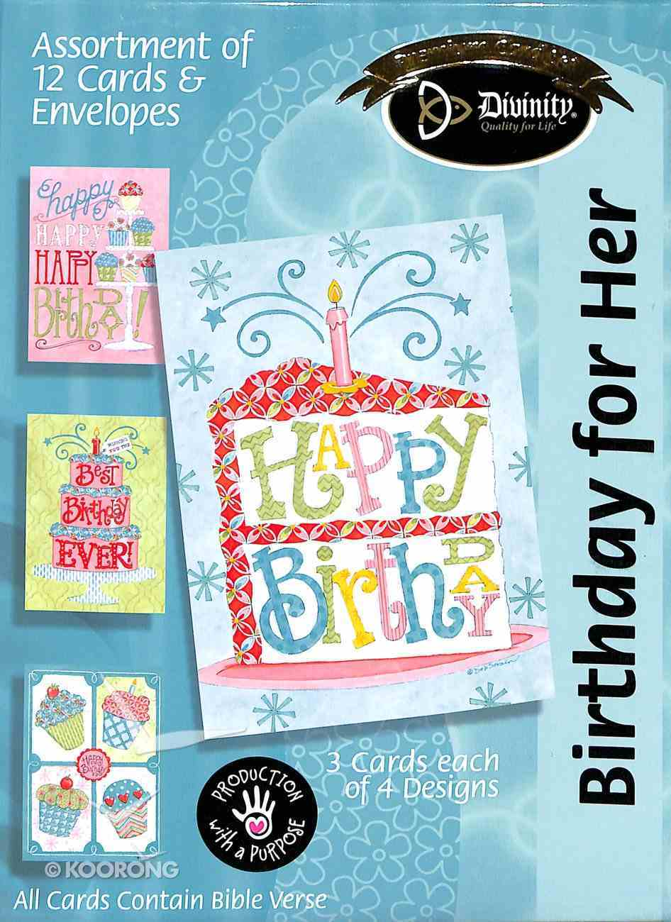Boxed Cards: Birthday For Her Box