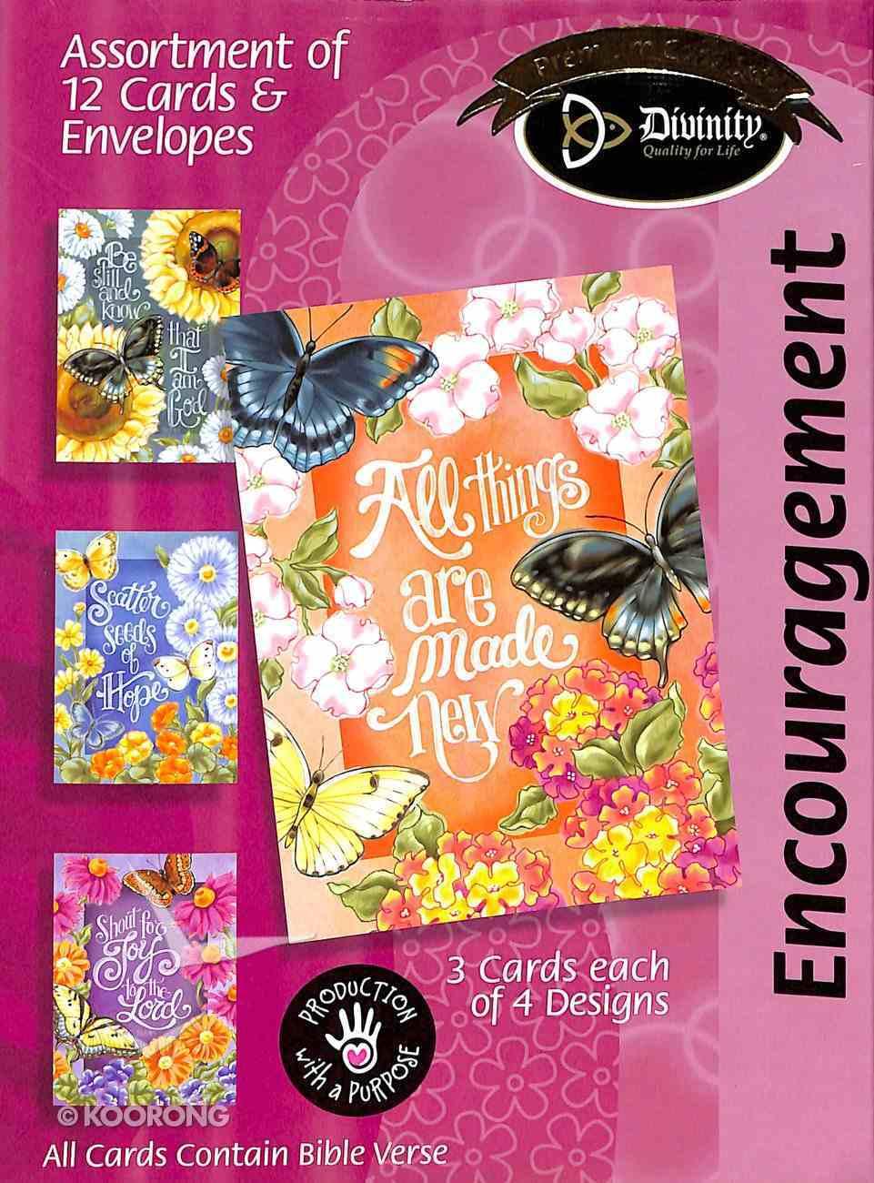 Boxed Cards Encouragement: Butterflies & Flowers Box